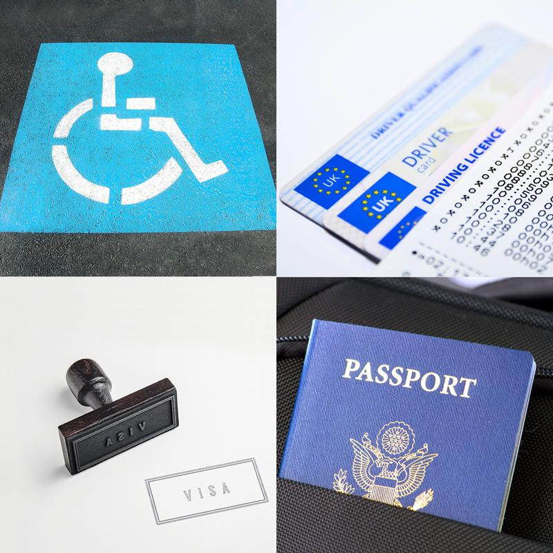 Passport photos, Blue Badge photos, Visa photos and Driving Licence photos